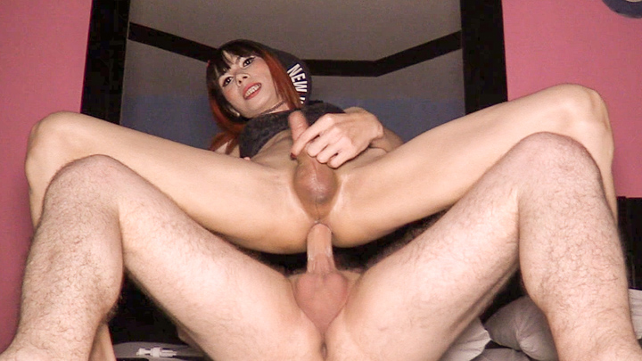 Ladyboy Belle Catching Raw Cock